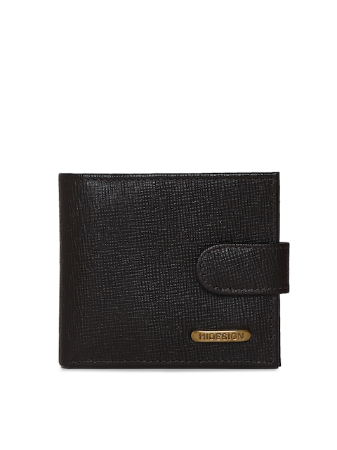 Hidesign Men Black Textured Two Fold Wallet