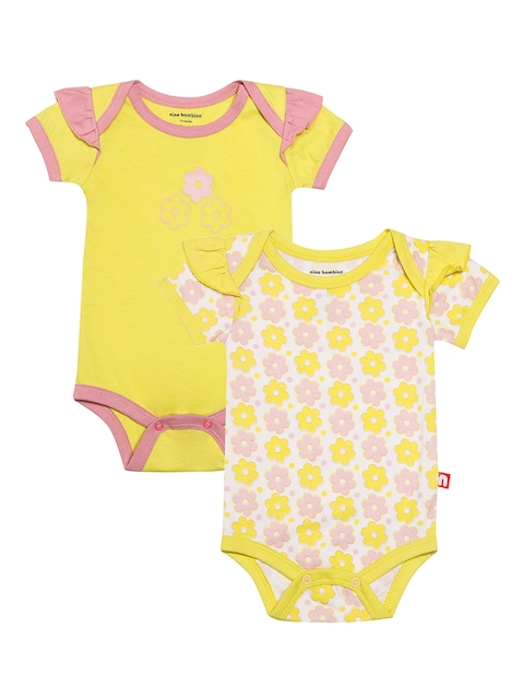 Nino Bambino Girls Pack of 2 Printed Bodysuits