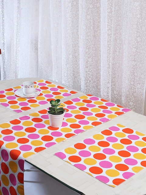 RANGRAGE Set of 6 Printed Placemats With Runner