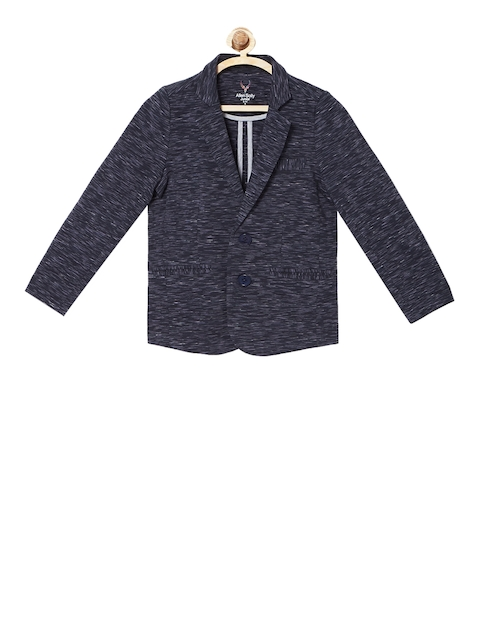 Allen Solly Junior Boys Blue Solid Tailored Jacket