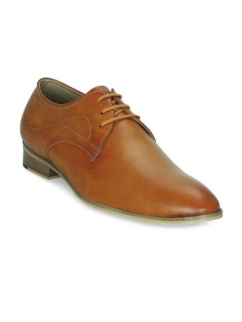 Kielz Men Tan Brown Formal Shoes