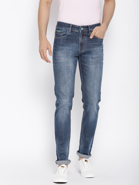 Monte Carlo Men Blue Adrino Narrow Fit Low-Rise Stretchable Jeans