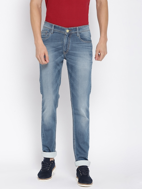 Monte Carlo Men Blue Martin Skinny Low-Rise Stretchable Jeans