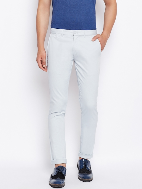 Monte Carlo Men Blue Regular Fit Solid Trousers