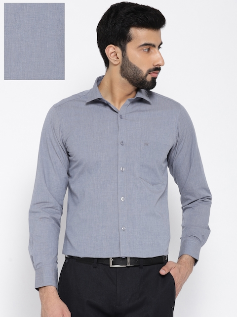 Monte Carlo Men Blue Regular Fit Solid Casual Shirt