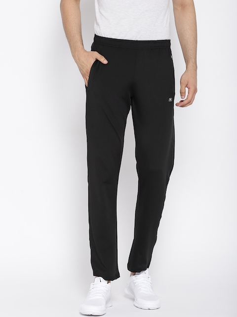 Monte Carlo Men Black Solid Track Pants
