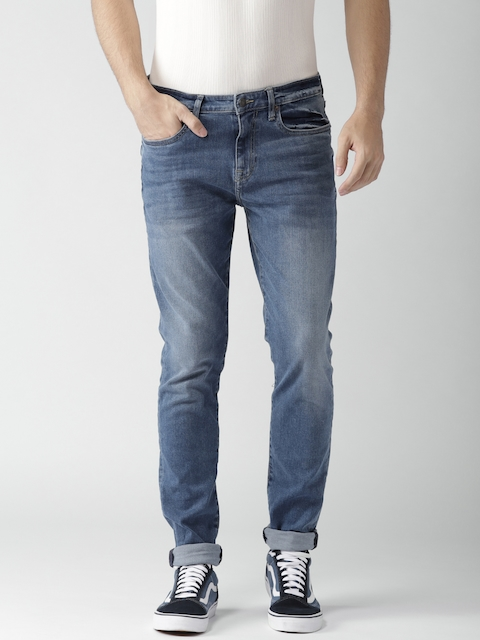 Aeropostale Men Blue Super Skinny Fit Mid-Rise Clean Look Jeans