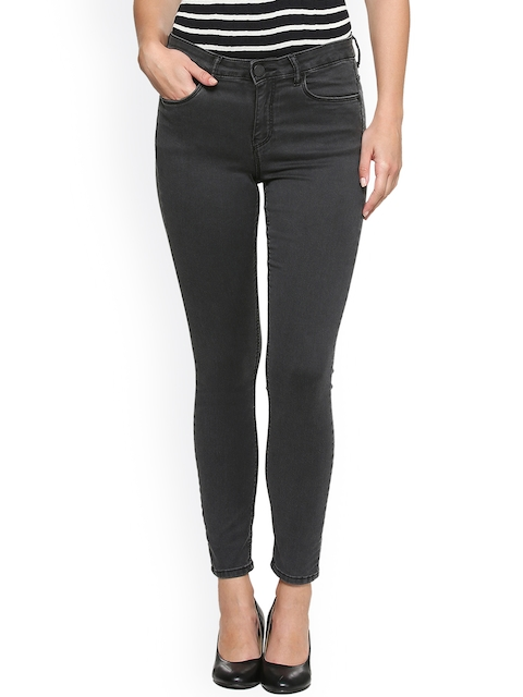 Van Heusen Woman Women Grey Skinny Fit Mid-Rise Clean Look Jeans