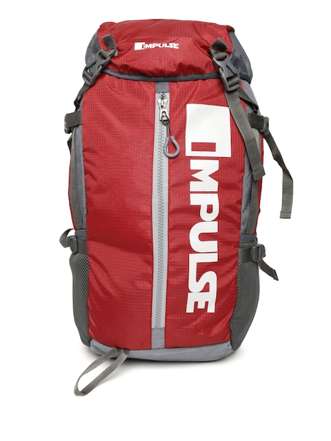 Impulse Unisex Red Climber Printed 65 Litres Rucksack