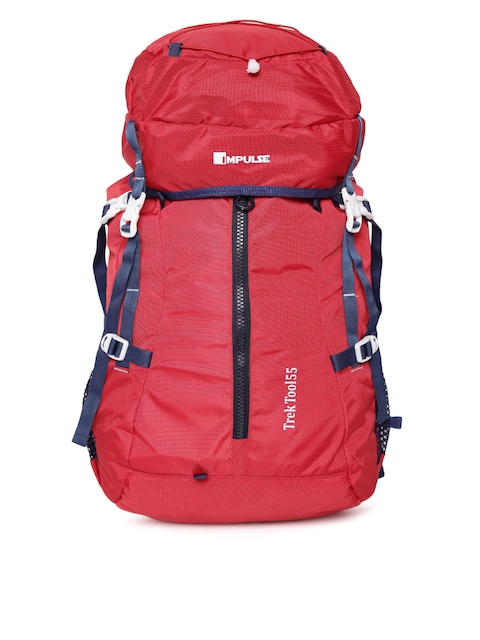 Impulse Unisex Red Trek Tool 65 Litres Rucksack