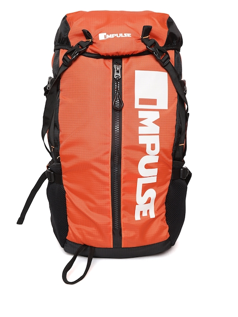 Impulse Unisex Orange and Black Climber 30 Litres Rucksack