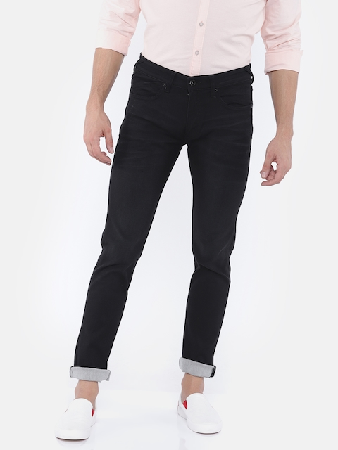 Pepe Jeans Men Black Slim Fit Low-Rise Clean Look Stretchable Jeans