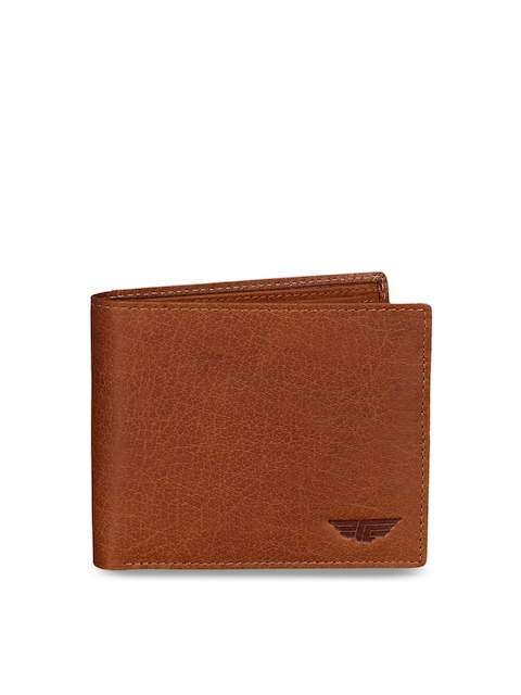 Red Tape Men Tan Textured Two Fold Wallet