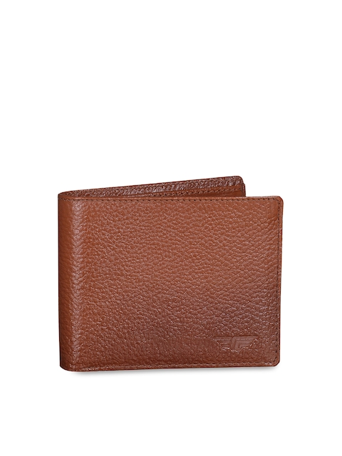 Red Tape Men Tan Solid Two Fold Wallet