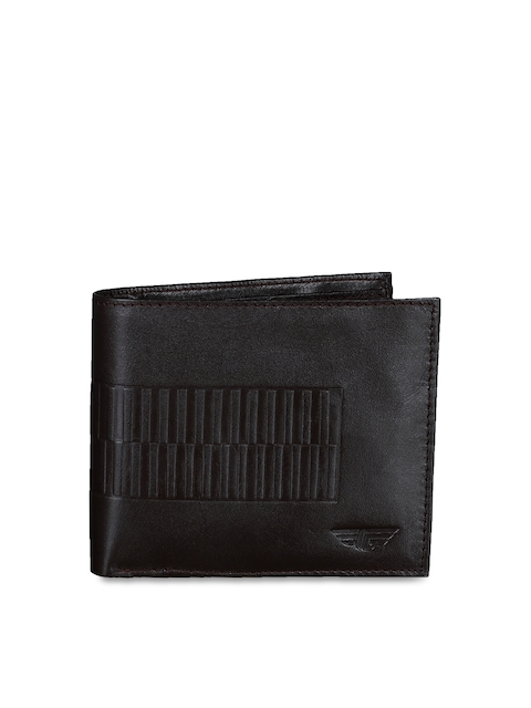 Red Tape Men Brown Solid Two Fold Wallet