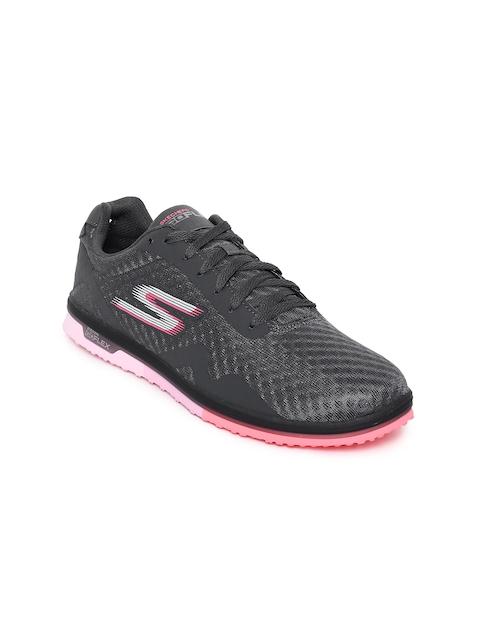 Skechers Women Charcoal GO MINI FLEX - SPEEDY Walking Shoes