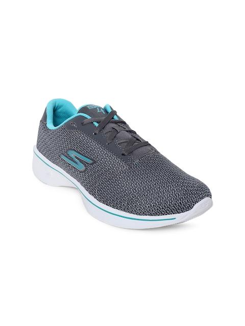 Skechers Women Charcoal Go Walk 4 Glorify Walking Shoes