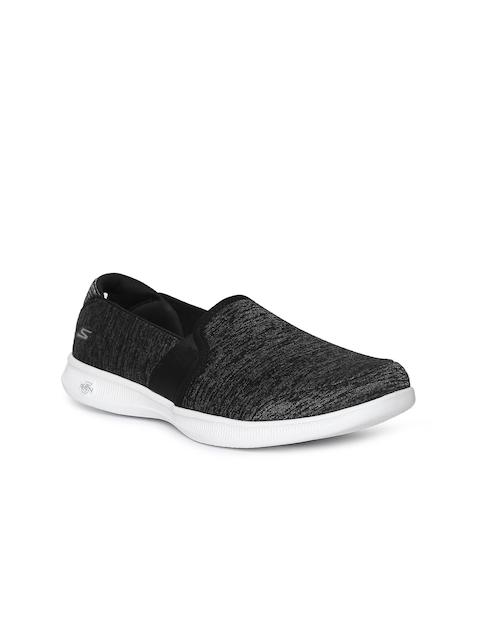 Skechers Women Charcoal Walking Shoes