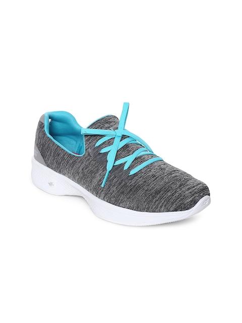Skechers Women Grey Go Walk 4 - All Day Walking Shoes