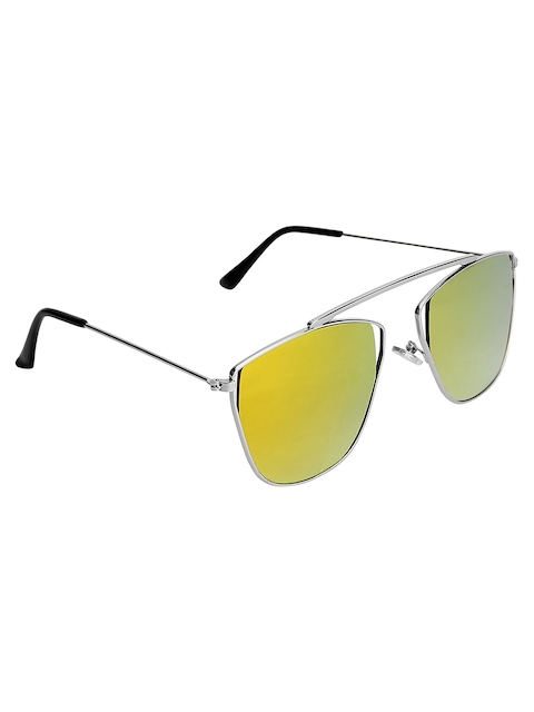 Olvin Unisex Stylized Square Mirrored Sunglasses OL378-03