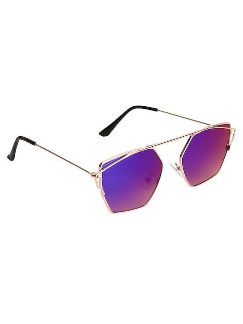 Olvin Unisex Stylized Square Mirrored Sunglasses OL377-01