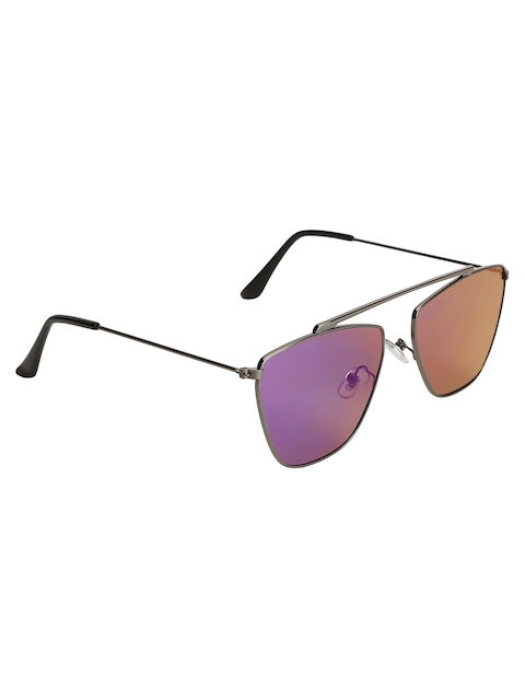 Olvin Unisex Stylized Square Mirrored Sunglasses OL379-06