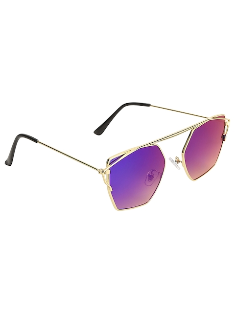Olvin Unisex Stylized Square Mirrored Sunglasses OL377-15