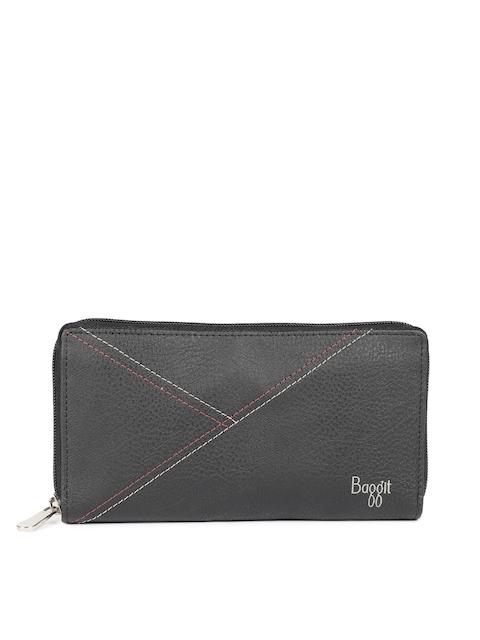 Baggit Women Black Solid Zip Around Wallet