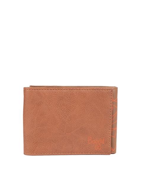 Baggit Women Tan Textured Three Fold Wallet