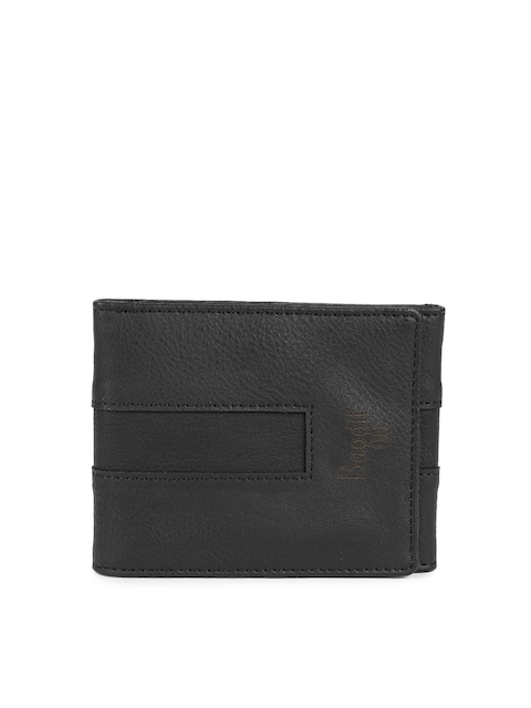 Baggit Men Black Solid Three Fold Wallet