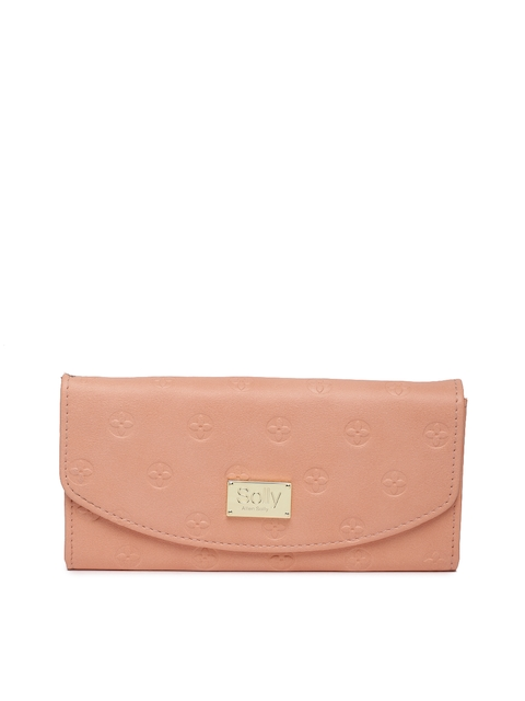 Allen Solly Women Pink Self-Design Two Fold Wallet