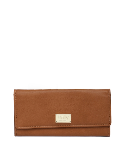 Allen Solly Women Brown Solid Two Fold Wallet