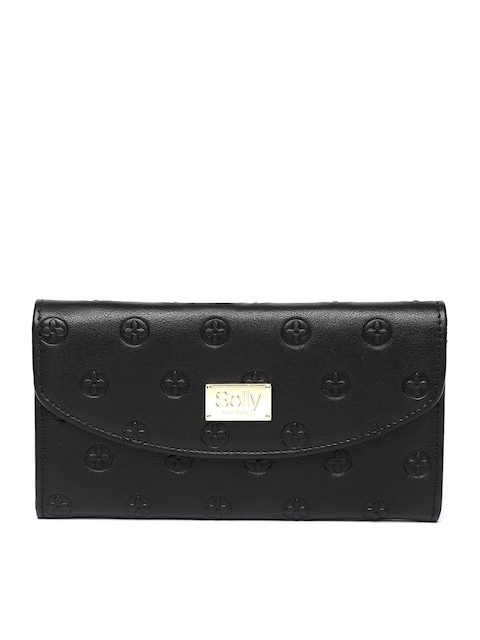 Allen Solly Women Black Solid Two Fold Wallet
