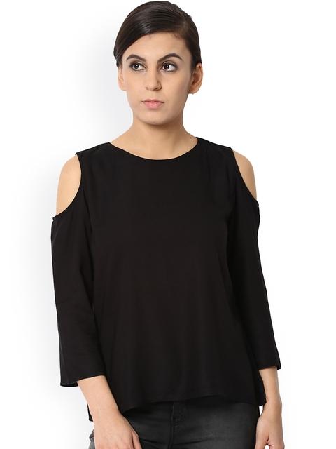 Van Heusen Woman Women Black Solid Top