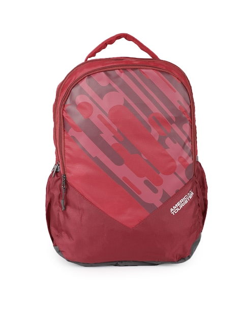 AMERICAN TOURISTER Unisex FG1 Red Solid Backpack