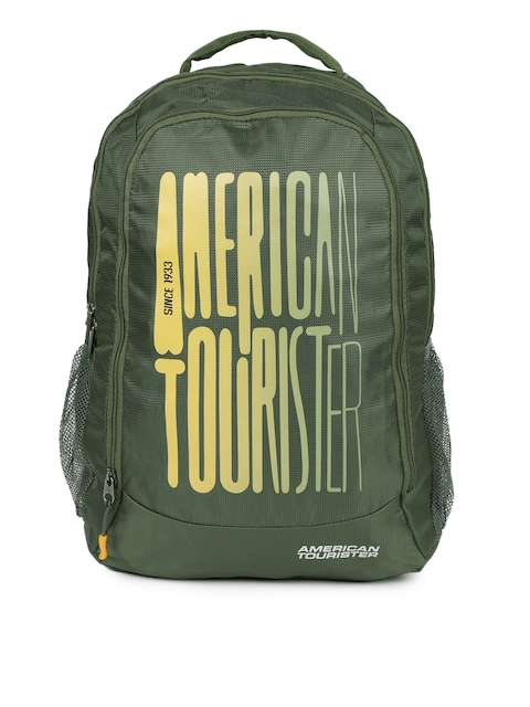 AMERICAN TOURISTER Unisex Green Solid Backpack