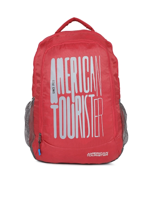 AMERICAN TOURISTER Unisex Red Solid Backpack