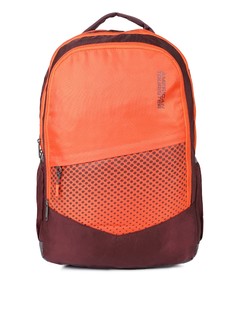de2337d5c69 50%off AMERICAN TOURISTER Unisex Orange   Magenta Graphic Print 02 Backpack
