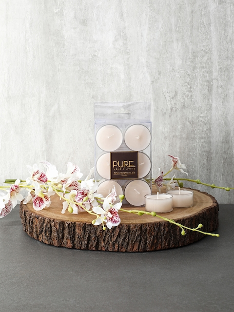 Pure Home and Living Set Of 3 Cream Candles