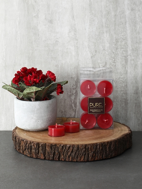 Pure Home and Living Set Of 3 Red Candles