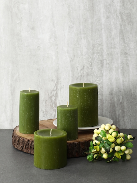 Pure Home and Living Set Of 2 Green Candles