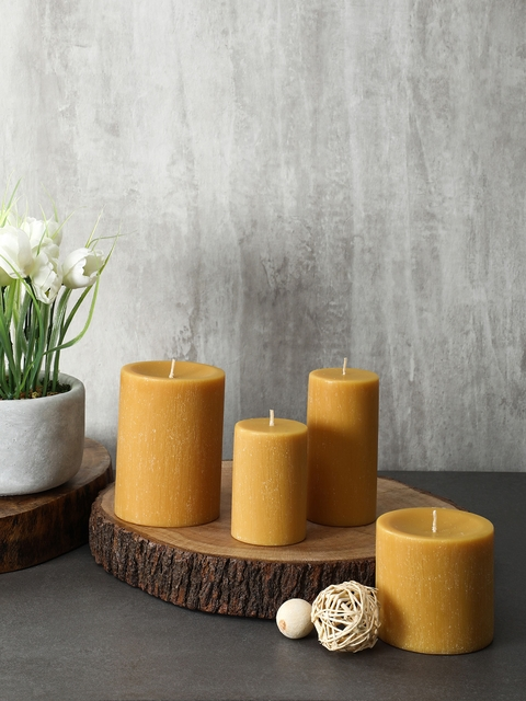 Pure Home and Living Set Of 2 Mustard Candles