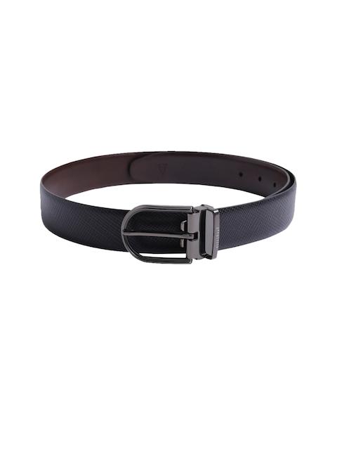 Van Heusen Men Black Textured Leather Belt