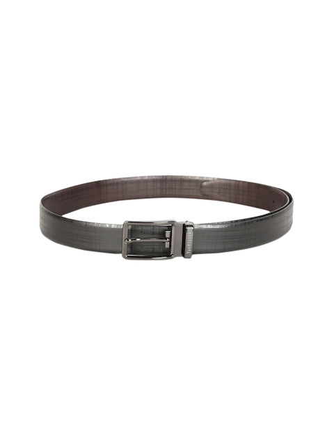 Van Heusen Men Black Solid Leather Belt