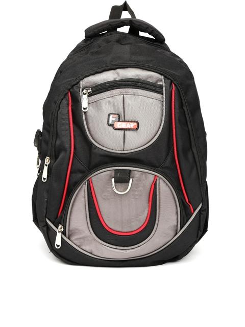 F Gear Unisex Black & Grey Axe Backpack
