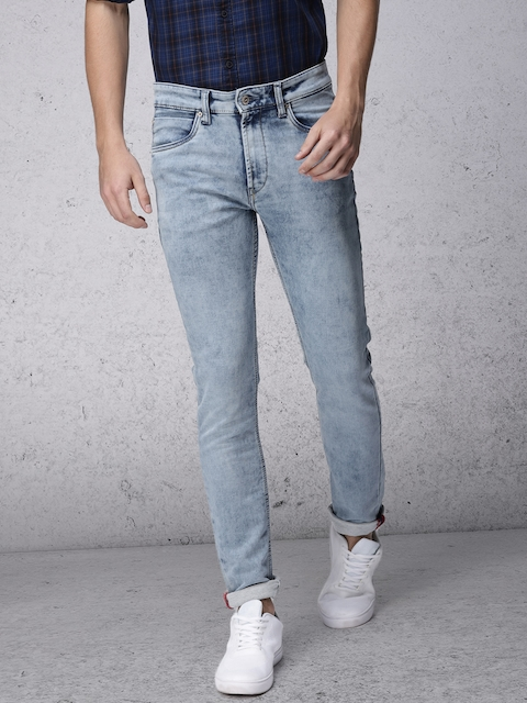Ecko Unltd Men Blue Slim Fit Mid-Rise Clean Look Stretchable Jeans