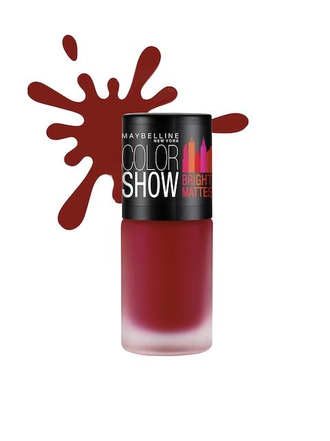 Maybelline New York M214 Brilliant Red Colour Show Bright Matte Nail Polish 6ml