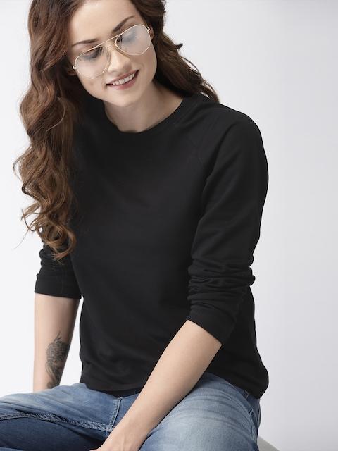 Mast & Harbour Women Black Solid Pullover