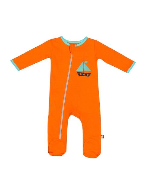 Nino Bambino Boys Orange & Blue Romper
