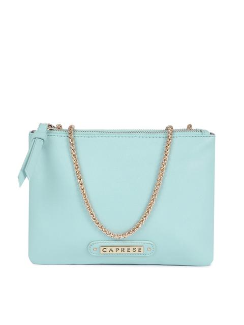 Caprese Blue Solid Sling Bag